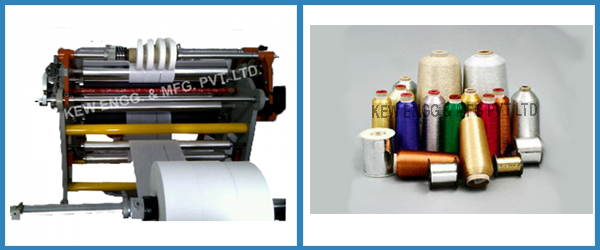 Yarn coated films for Specialized Applications Slitter Rewinder Machine