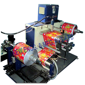 Industrial Inkjet Printer With Winding Rewinding Machine